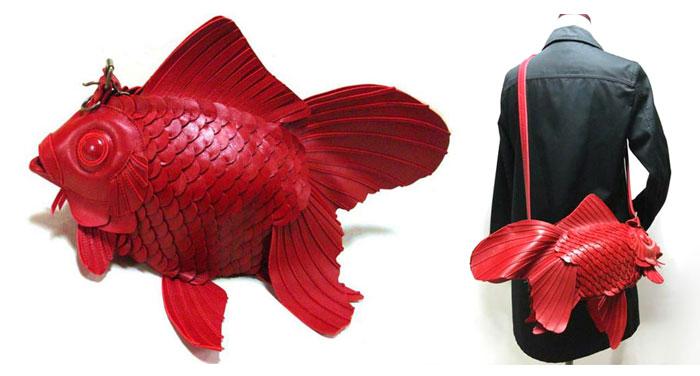 Japanese Goldfish Bags Handcrafted By Atelier Iwakiri