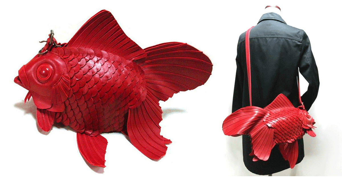 Japanese goldfish bags handcrafted by atelier iwakiri for Fish in a bag