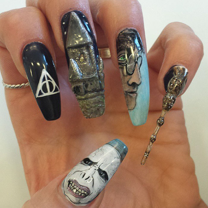 Trending 15 Harry Potter Nail Art Ideas That Are Pure Magic The