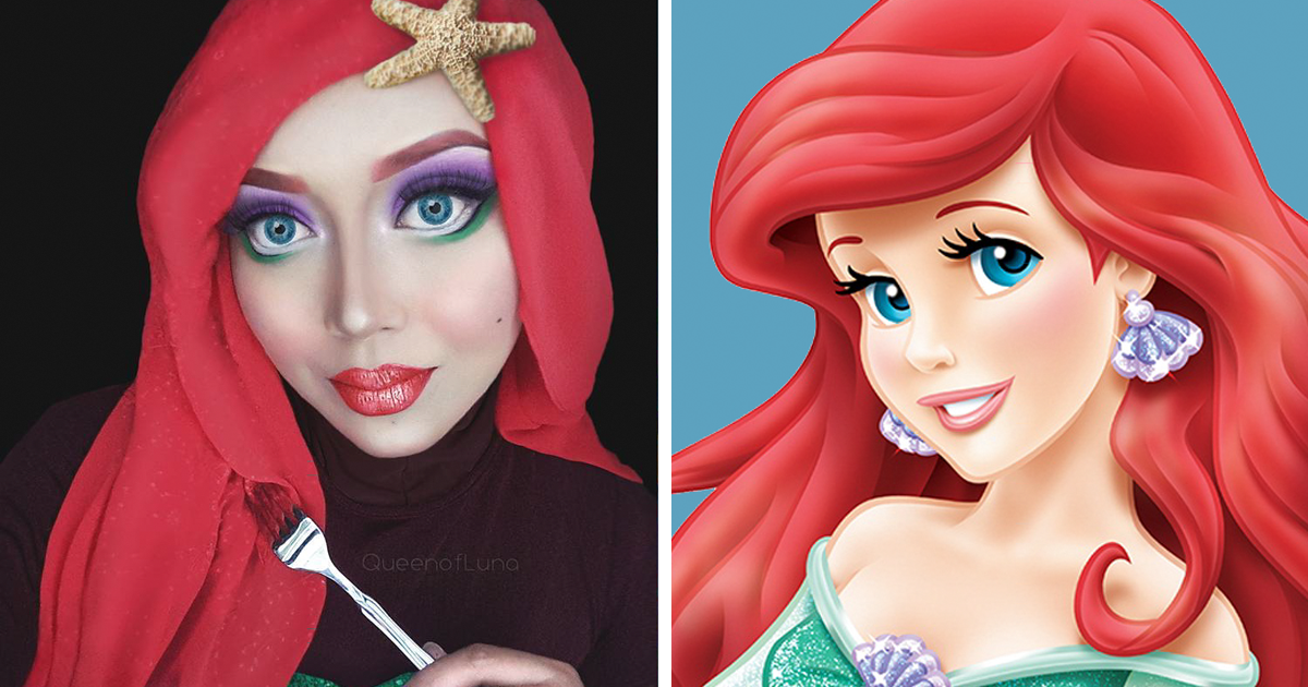 Hijab Disney Woman Uses Her To Turn Herself Into Princesses
