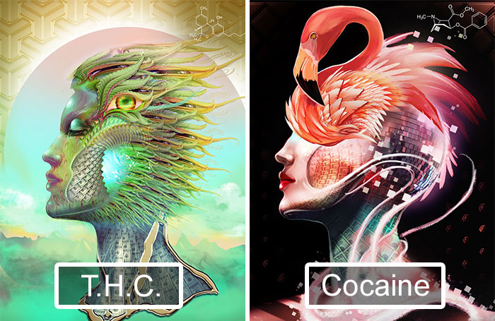 Artist Takes 20 Different Drugs And Creates 20 Illustrations To Show Drug Effects
