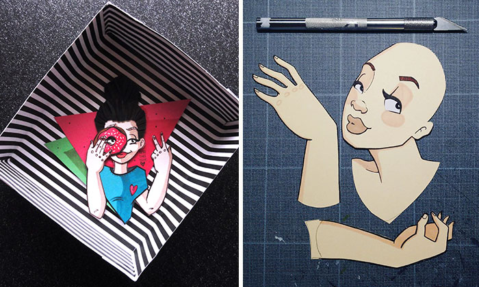 Polish Artist Brings Her Drawings To Life By Cutting Them