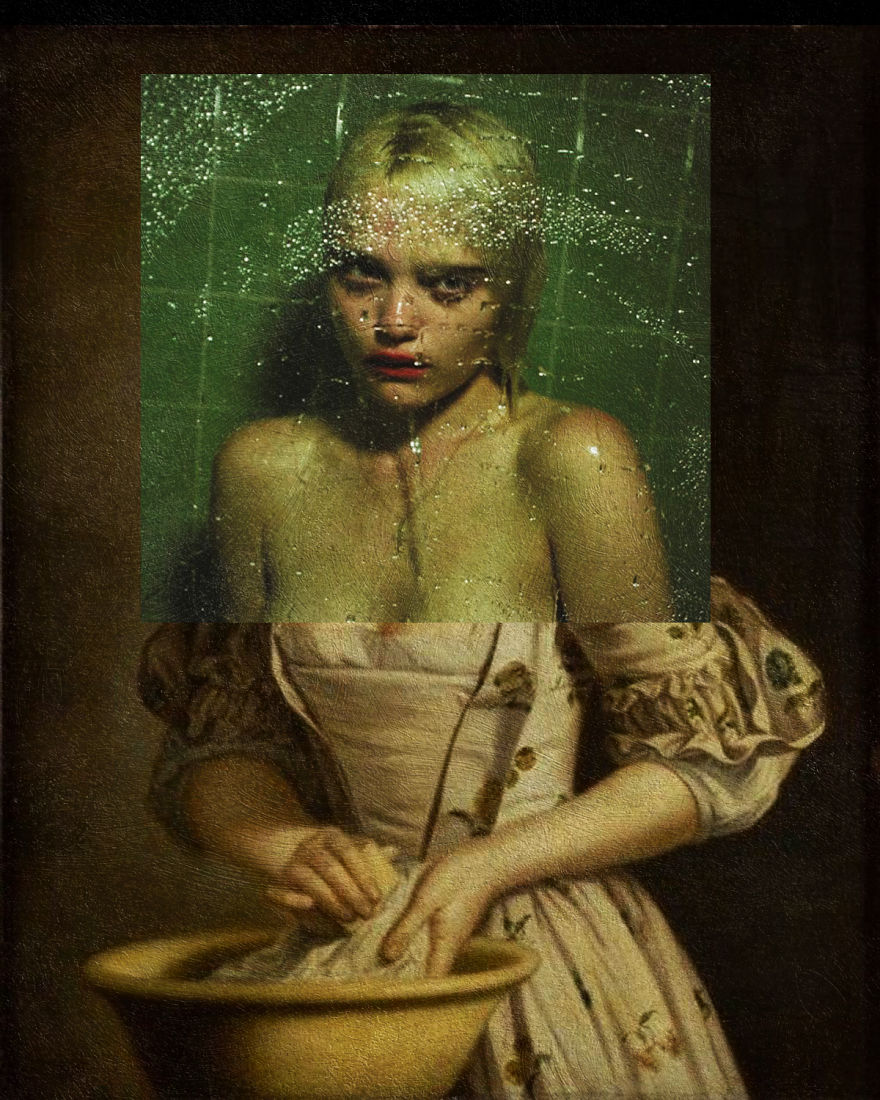 Night Time, My Time By Sky Ferreira + A Lady's Maid Soaping Linen By Henry Robert Morland