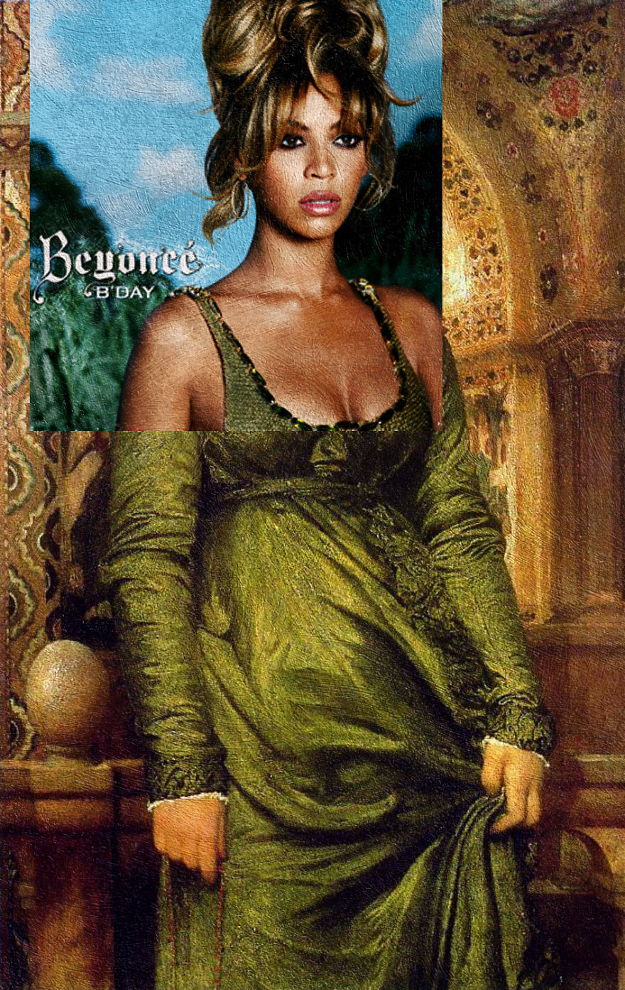 B'day By Beyoncé + Girl In Green By Lord Frederick Leighton