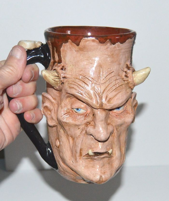 I Create One Of A Kind Mugs Of Scary Monsters