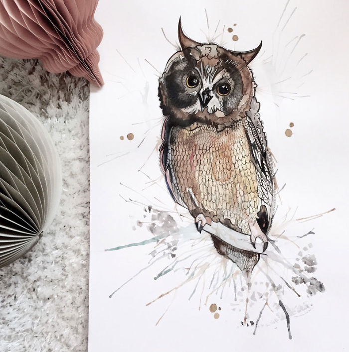 I Create Watercolour Paintings Of Animals