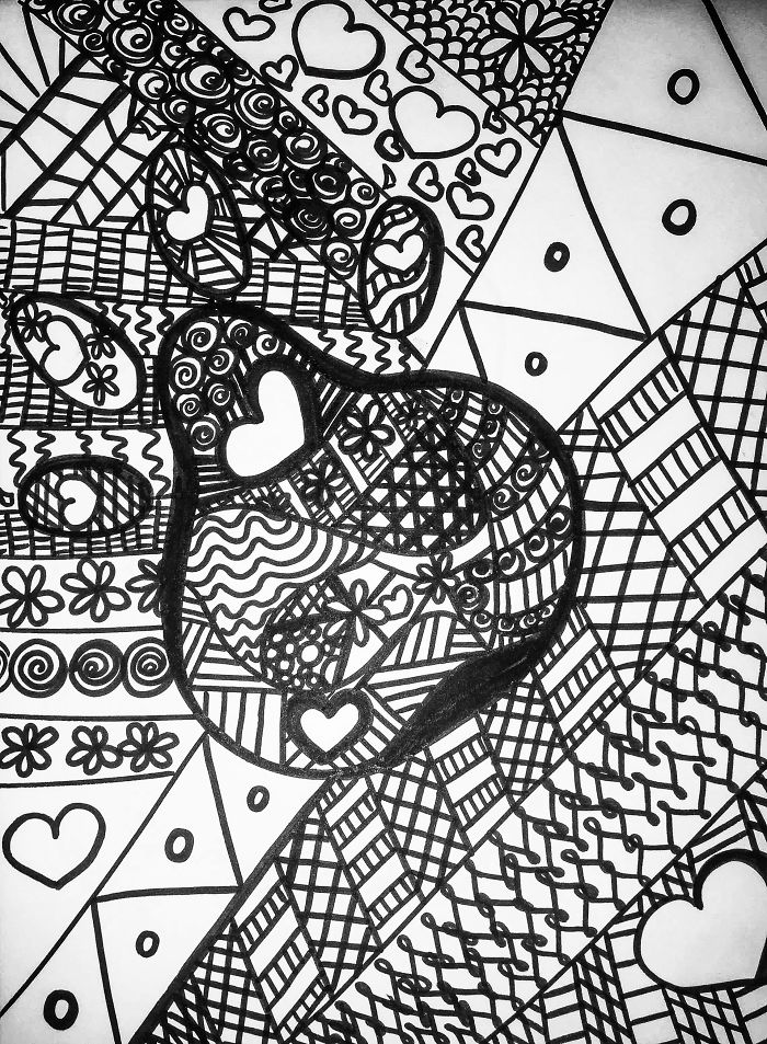I Created This Coloring Page To Help Pay For Surgery For An Abused Dog