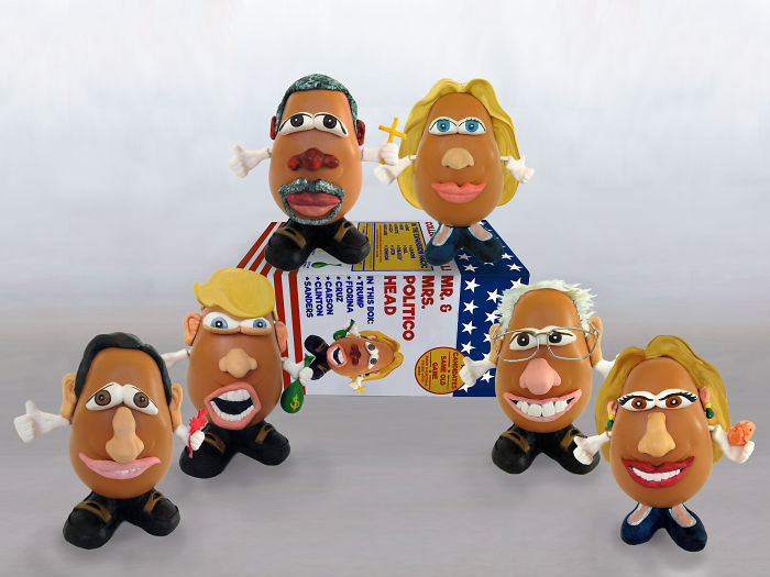I Depicted The 2016 USA Political Candidates As Potato Heads