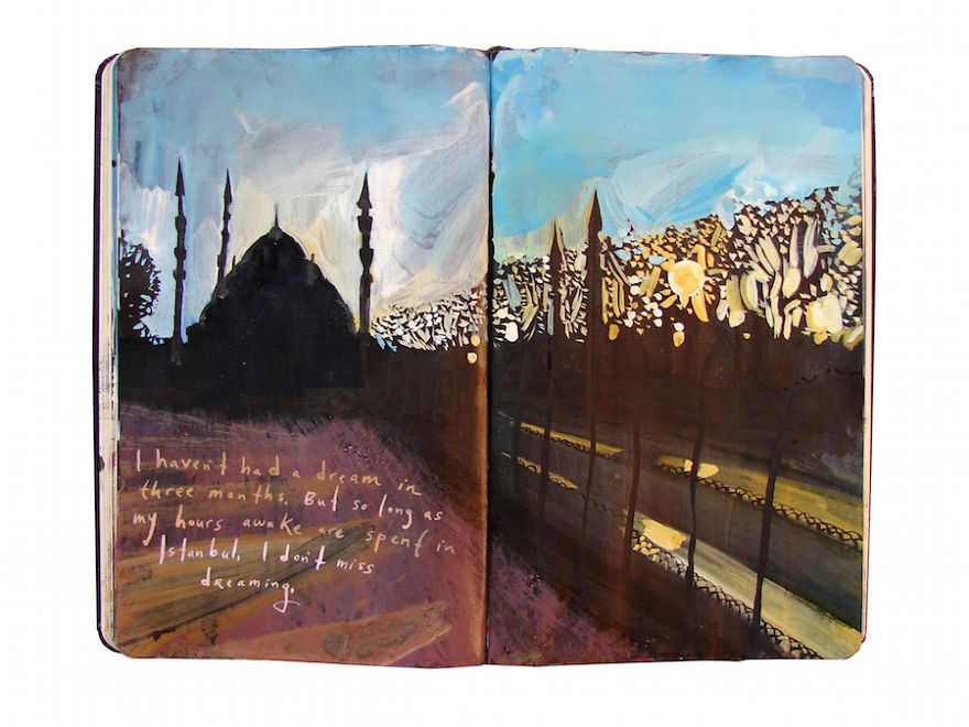I Documented Two Years of Travel By Painting In My Moleskine Notebook