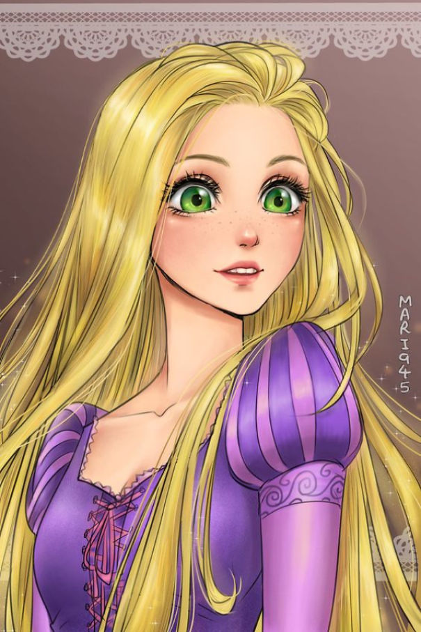 Female Disney Characters Anime Quiz By Kujoret1902