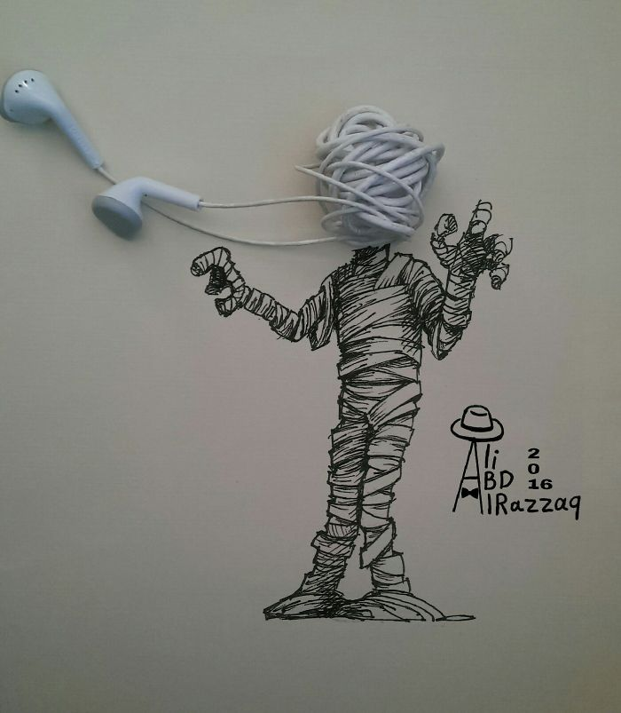 I Draw Interactive Illustrations Using Everyday Objects (part 4)