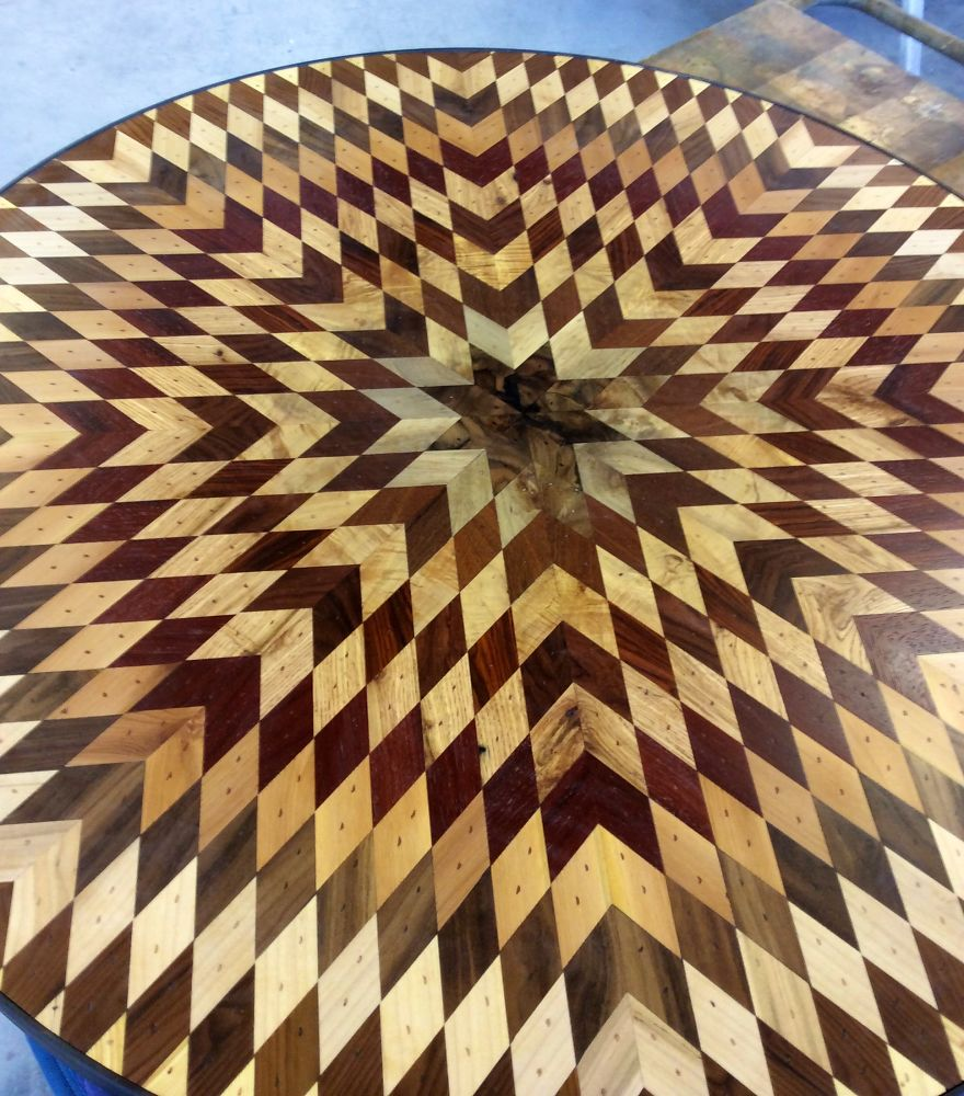 And Because I Was Using My Salvaged Wood With Finite Amounts Of Each  Distinct Board, Every Table Top Became A Kind Of Puzzle To Create The  Design I Had In ...