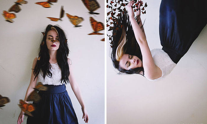 I Made Surreal Self Portraits To Show My Love For Butterflies