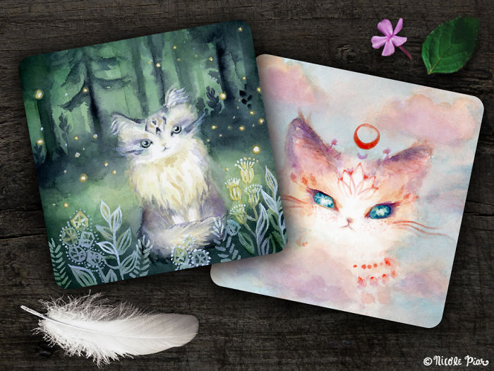 I Paint Cats As Fluffy Philosophers Sharing Their Healing Messages