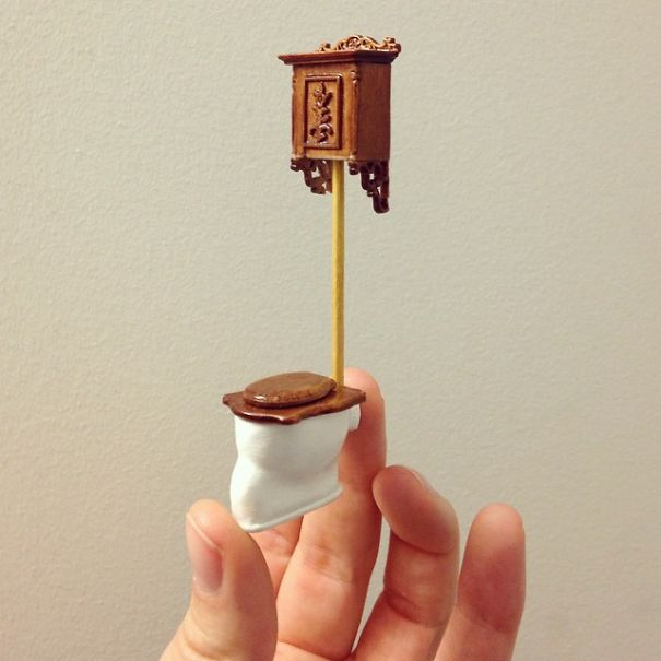 How to make miniature furniture Dollhouse Furniture Bored Panda Quit My Job As Lawyer To Make Tiny Furniture Bored Panda