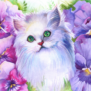 I Turn Peoples' Pets Into Beautiful Watercolour Portraits