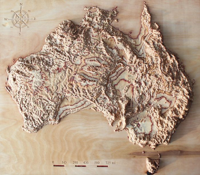 I'm Carving Maps In Wood Using Real Satellite Data