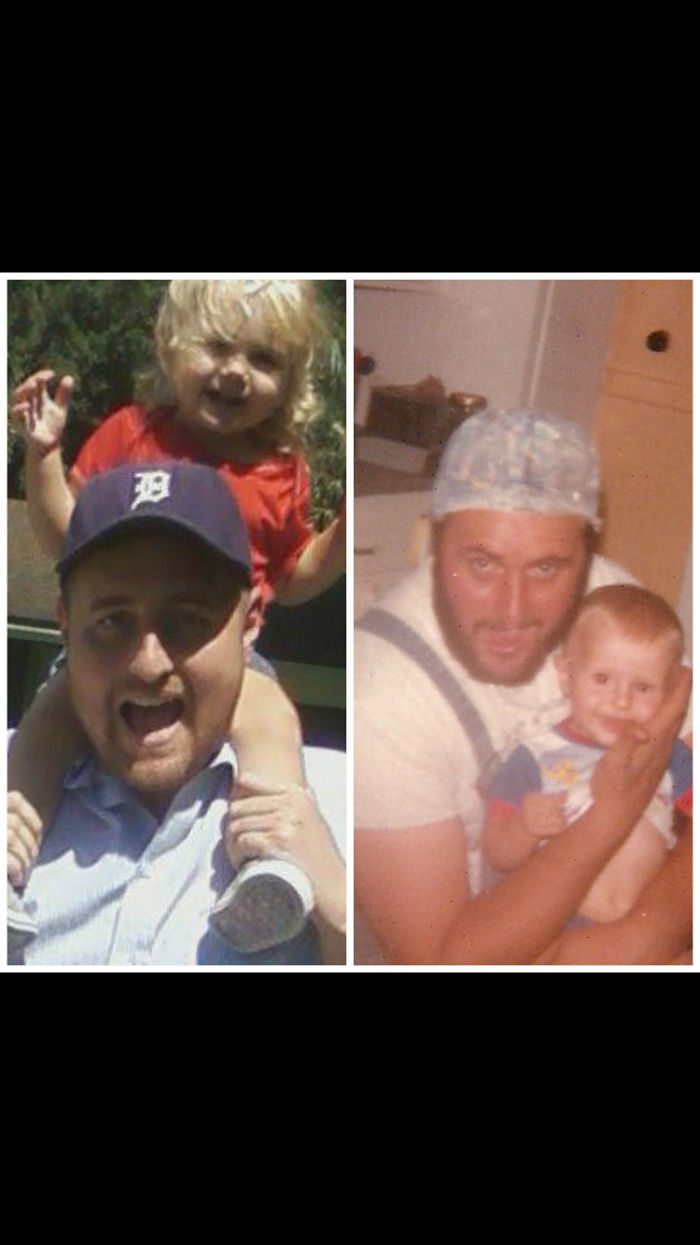 My Dad And Brother At 34. Me And My Niece At 30.