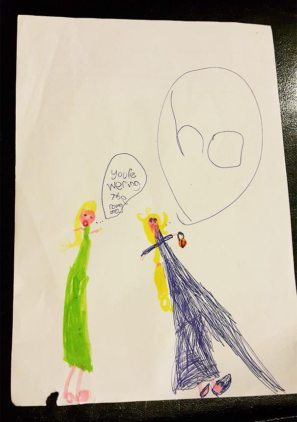 Trick Or Treating Elsa. My Kid Drew This
