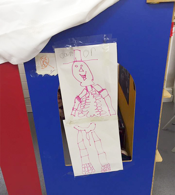 My Daughter's Skeleton This Is In The Classroom. Apparently A Daddy Skeleton
