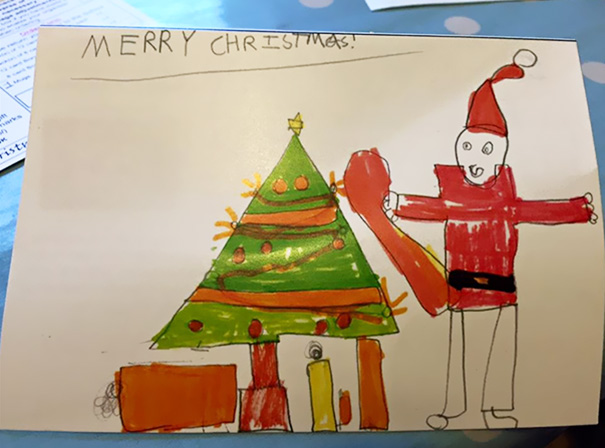 My Son's Christmas Card Design
