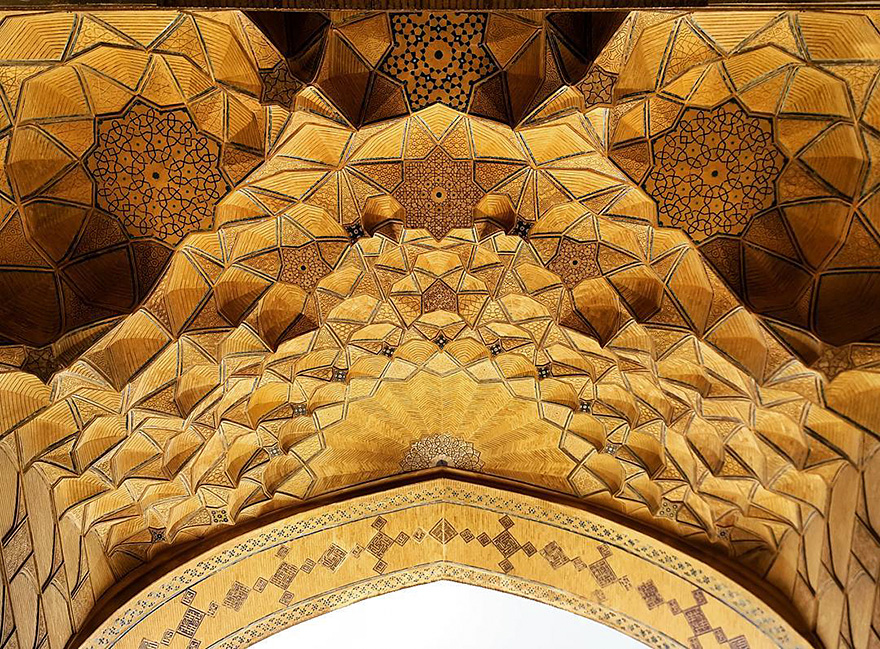 The Hypnotizing Beauty Of Iranian Mosque Ceilings