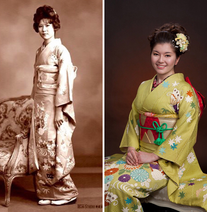 Same Kimono, Same Age, And Same Dna. My Mother In 1976 And I In 2011
