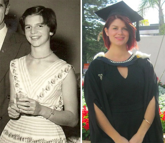 My Grandma When She Was 18 And Me Aged 22