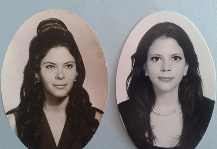 My Mom And I. Same Age, Different Century