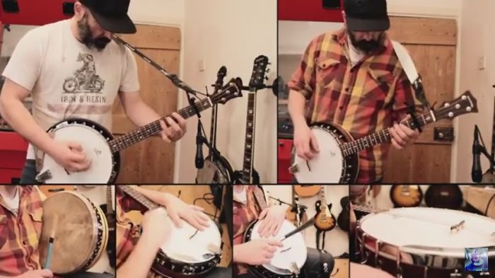 Man Makes A Full Cover Of Metallica-enter Sandman With Just A Banjo