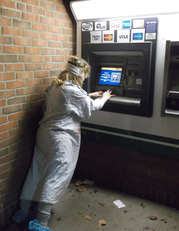 Zombie Withdrawing Cash From Atm In Ohio