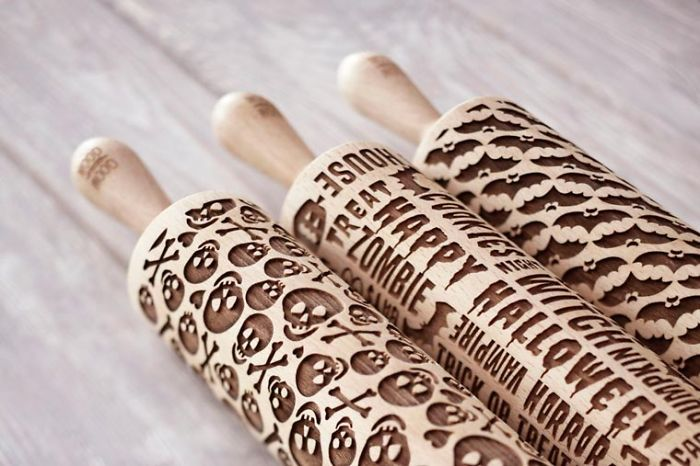 Mood For Wood – Pretty Rolling Pins Laser Engraved