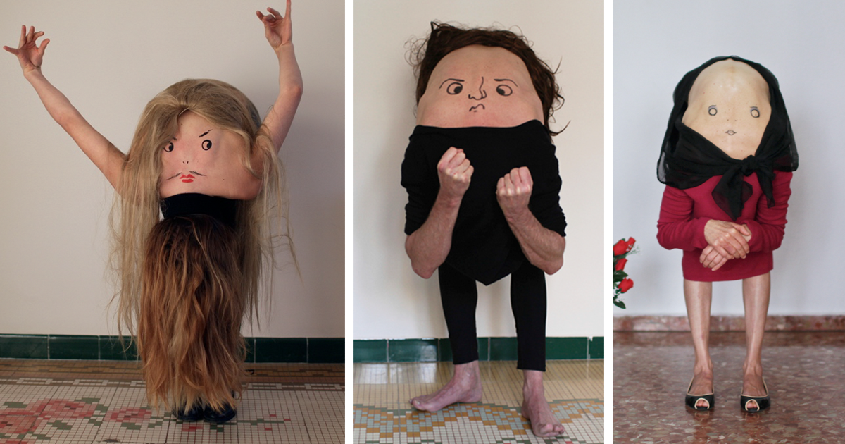 I Turn People Into Creatures From Another World By Drawing Faces On Their Backs