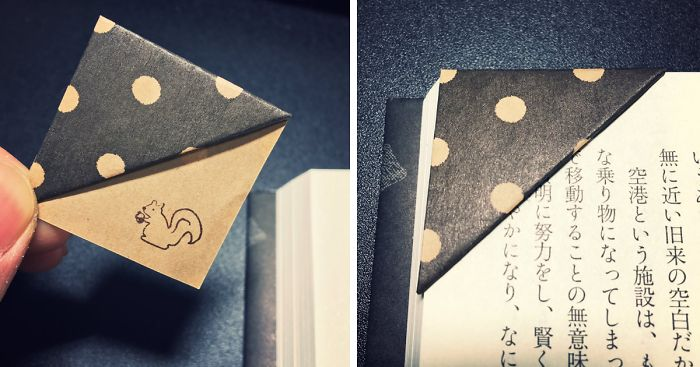 Simple Trick To Make Your Own Origami Bookmarks | Bored Panda