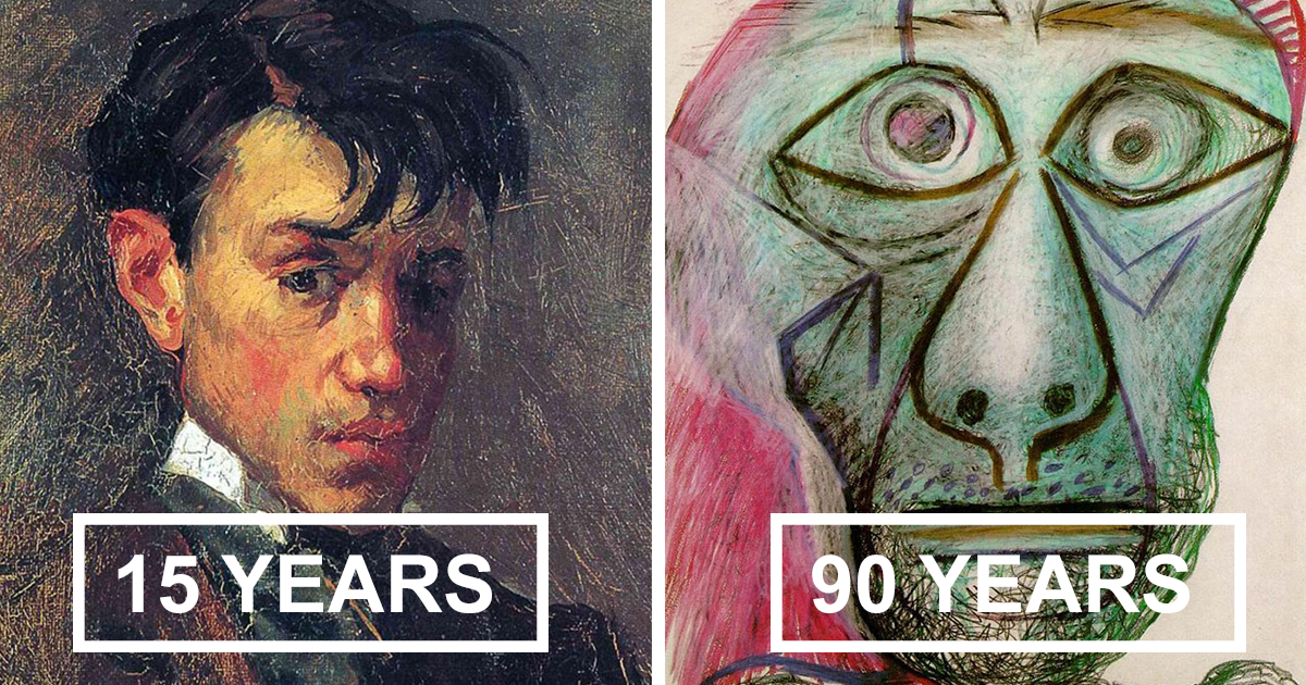 Picasso's Self Portrait Evolution From Age 15 To Age 90 | Bored Panda