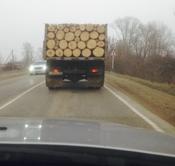 Perfectly Stacked Logs