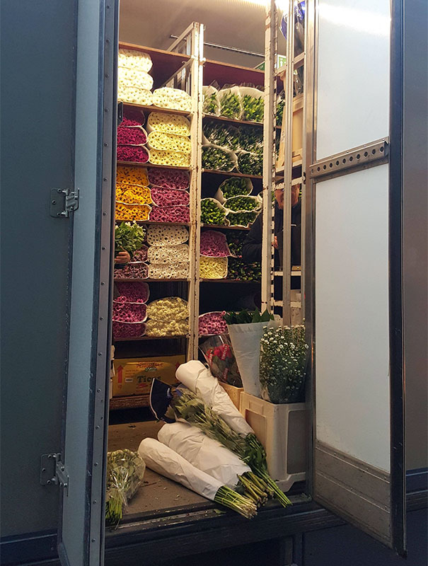 Peek Inside A Supermarket Flower Delivery Truck