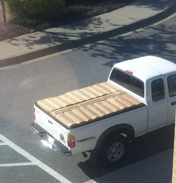 The Way These Boxes Fit Into This Truck