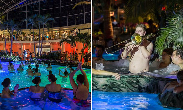 How 80 Musicians Turned A Pool Into A Concert Hall