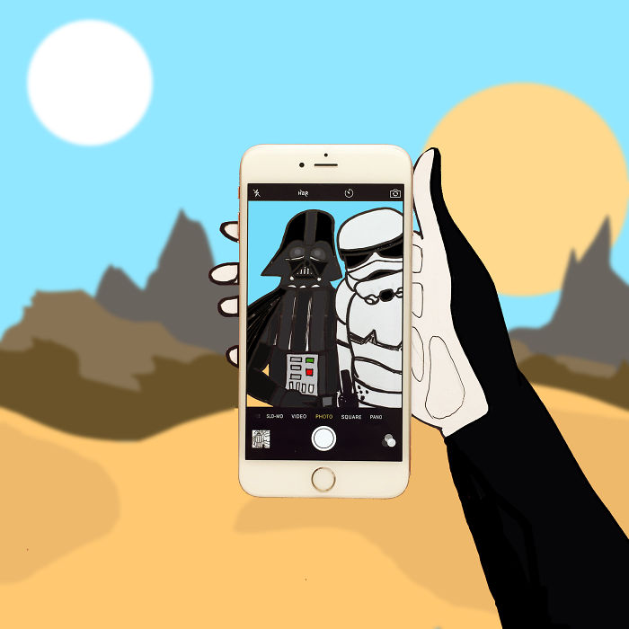 Imaginary World Through My Iphone