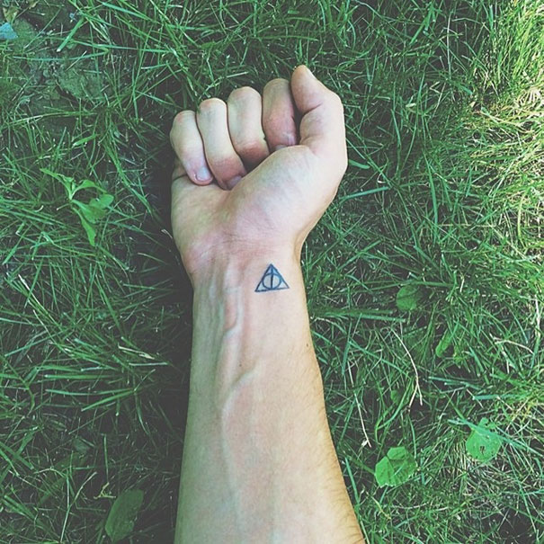 Minimalist Harry Potter Tattoo