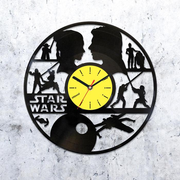 I Made Star Wars Inspired Clocks From Old Vinyl Records