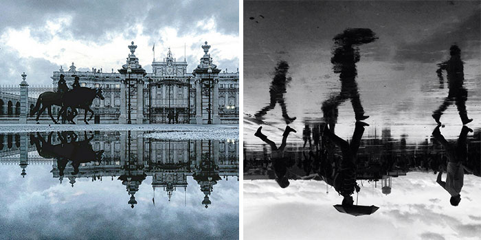 The Parallel Worlds Of Puddles In Spain