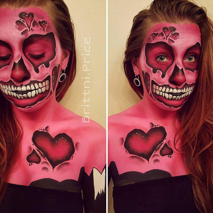 This Month I Challenged Myself To Create Valentines Day Themed Body Art