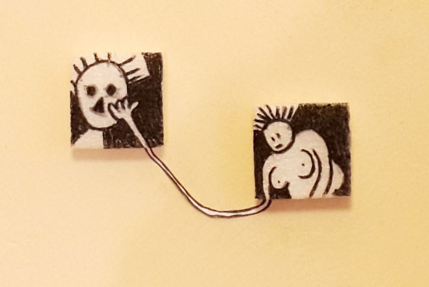 Tiny wall decoration i made with waste material bored panda for Decorative items from waste
