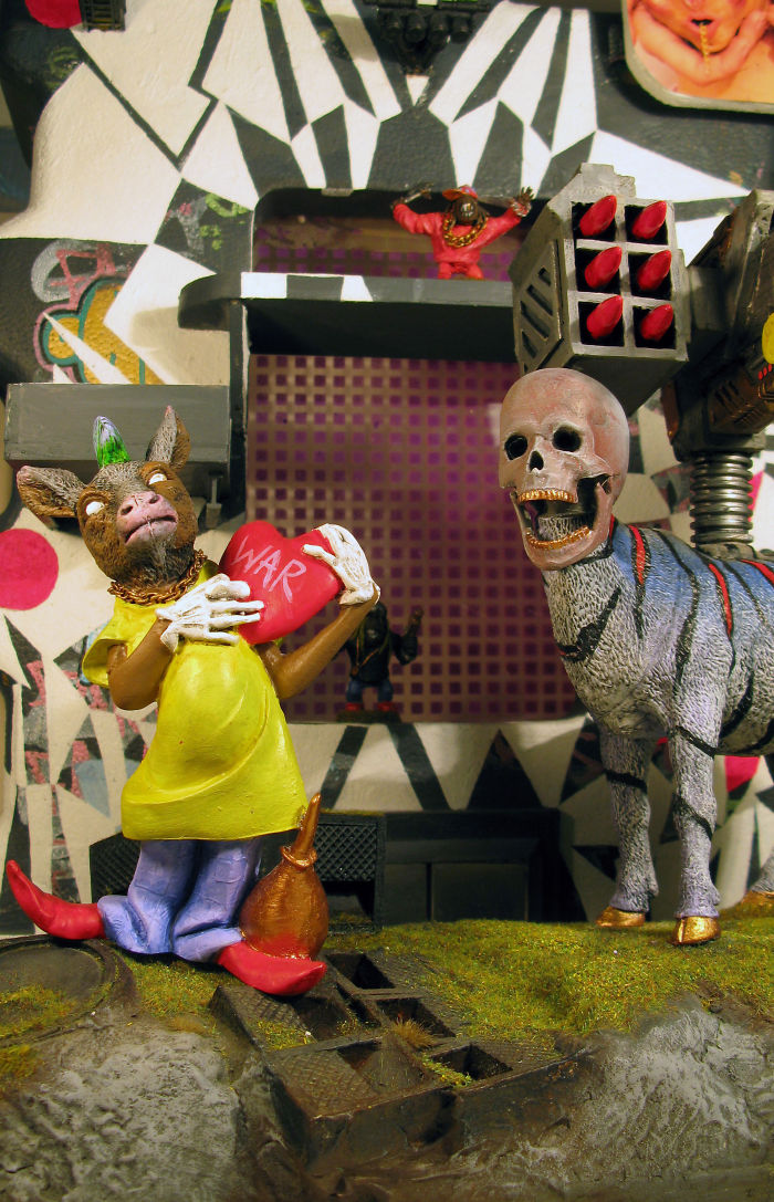 Toy Hack War Machine And Goat Punk  By Webbo