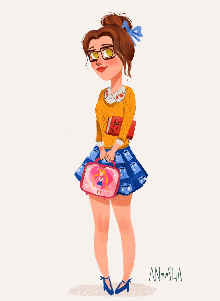 16 disney princesses as college students