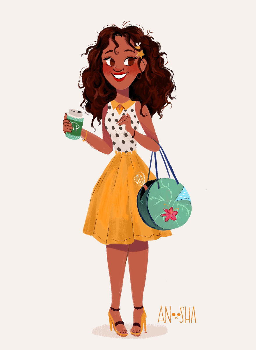 I Illustrated Disney Princesses As Modern Day Girls Living In The 21st Century