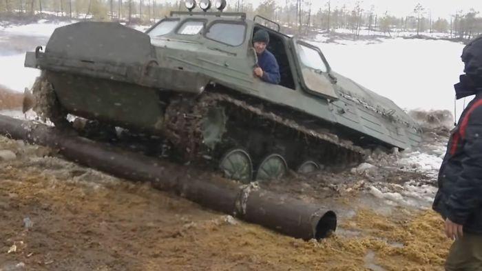 Unreal Swamp Icy Roads Of Yakutia Russia