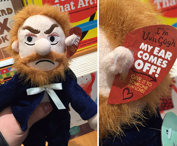 This Vincent Van Gogh Plush Toy Has A Detachable Ear